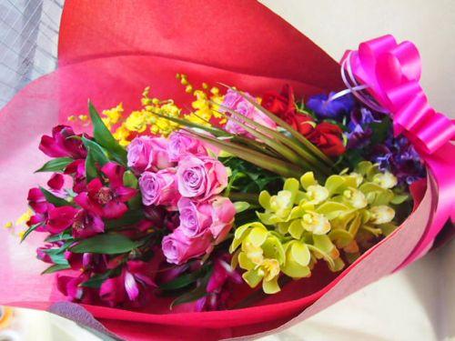 花ギフト|フラワーギフト|誕生日 花|カノシェ話題|スタンド花|ウエディングブーケ|花束|花屋|53172