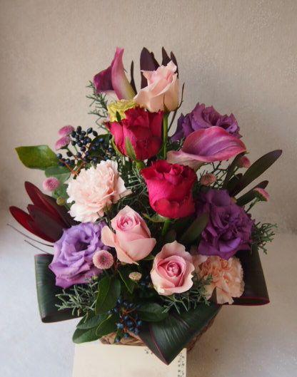 花ギフト|フラワーギフト|誕生日 花|カノシェ話題|スタンド花|ウエディングブーケ|花束|花屋|52457