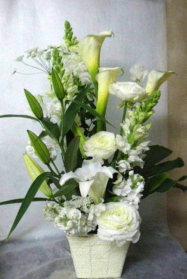 花ギフト|フラワーギフト|誕生日 花|カノシェ話題|スタンド花|ウエディングブーケ|花束|花屋|りえ 白カラー