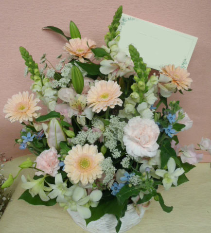 花ギフト フラワーギフト 誕生日 花 カノシェ話題 スタンド花 ウエディングブーケ 花束 花屋 pb-rie