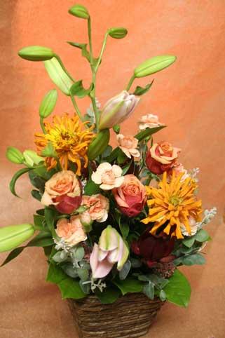 花ギフト|フラワーギフト|誕生日 花|カノシェ話題|スタンド花|ウエディングブーケ|花束|花屋|ブラウン