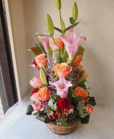 花ギフト|フラワーギフト|誕生日 花|カノシェ話題|スタンド花|ウエディングブーケ|花束|花屋|54665