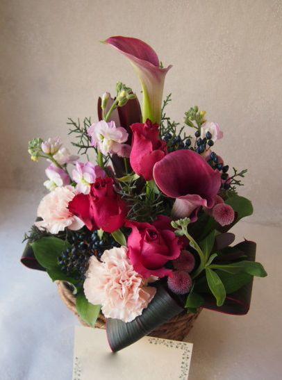 花ギフト|フラワーギフト|誕生日 花|カノシェ話題|スタンド花|ウエディングブーケ|花束|花屋|52460