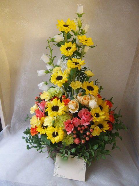 花ギフト|フラワーギフト|誕生日 花|カノシェ話題|スタンド花|ウエディングブーケ|花束|花屋|55308