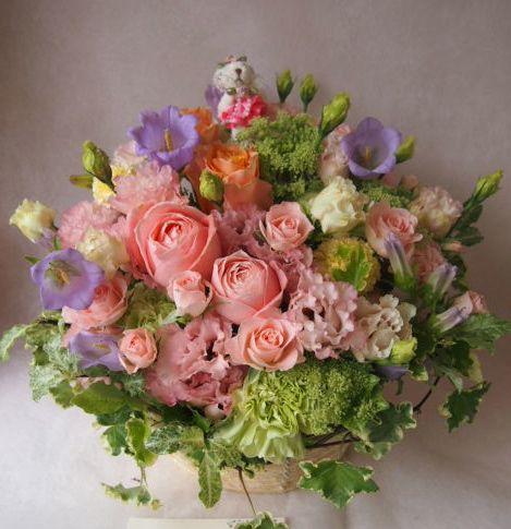 花ギフト|フラワーギフト|誕生日 花|カノシェ話題|スタンド花|ウエディングブーケ|花束|花屋|40681