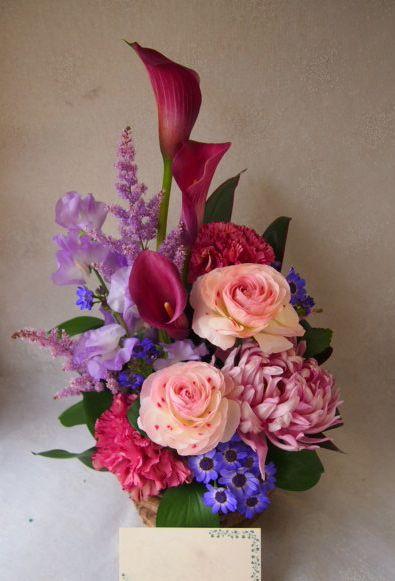 花ギフト|フラワーギフト|誕生日 花|カノシェ話題|スタンド花|ウエディングブーケ|花束|花屋|54238