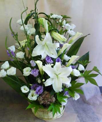 花ギフト|フラワーギフト|誕生日 花|カノシェ話題|スタンド花|ウエディングブーケ|花束|花屋|白紫