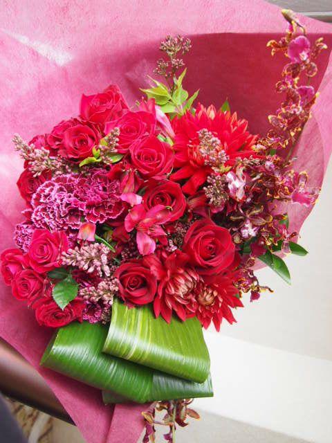 花ギフト|フラワーギフト|誕生日 花|カノシェ話題|スタンド花|ウエディングブーケ|花束|花屋|54973