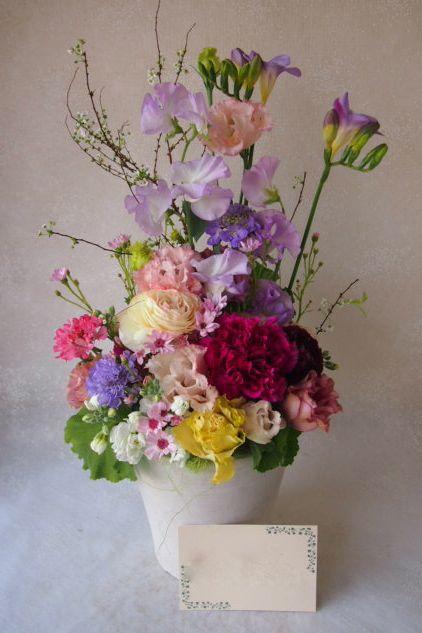 花ギフト|フラワーギフト|誕生日 花|カノシェ話題|スタンド花|ウエディングブーケ|花束|花屋|53889