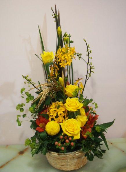 花ギフト|フラワーギフト|誕生日 花|カノシェ話題|スタンド花|ウエディングブーケ|花束|花屋|53207