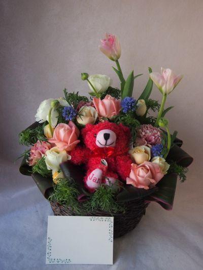 花ギフト|フラワーギフト|誕生日 花|カノシェ話題|スタンド花|ウエディングブーケ|花束|花屋|38069