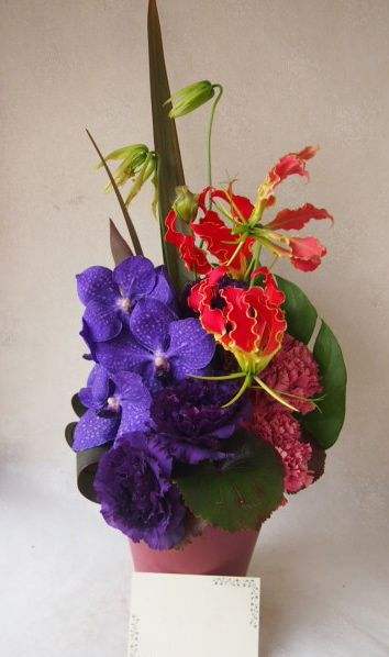 花ギフト|フラワーギフト|誕生日 花|カノシェ話題|スタンド花|ウエディングブーケ|花束|花屋|54188