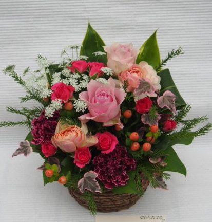 花ギフト|フラワーギフト|誕生日 花|カノシェ話題|スタンド花|ウエディングブーケ|花束|花屋|52254