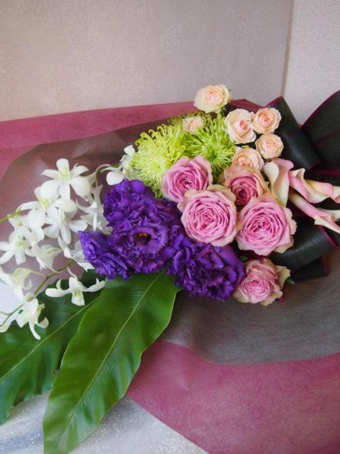 花ギフト フラワーギフト 誕生日 花 カノシェ話題 スタンド花 ウエディングブーケ 花束 花屋 49777