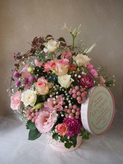 花ギフト|フラワーギフト|誕生日 花|カノシェ話題|スタンド花|ウエディングブーケ|花束|花屋|58391