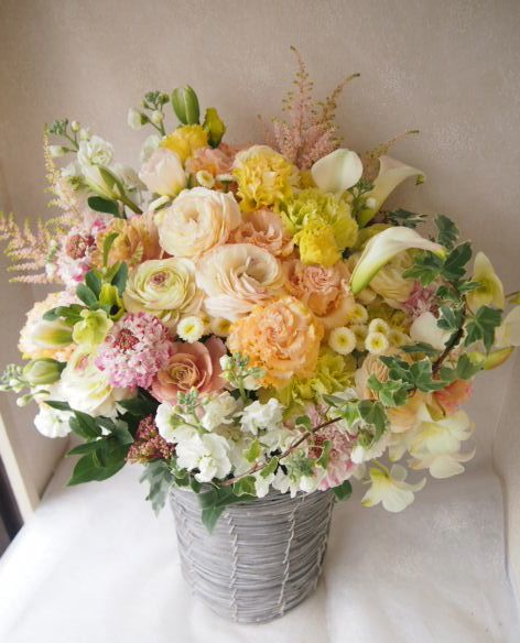 花ギフト|フラワーギフト|誕生日 花|カノシェ話題|スタンド花|ウエディングブーケ|花束|花屋|53822