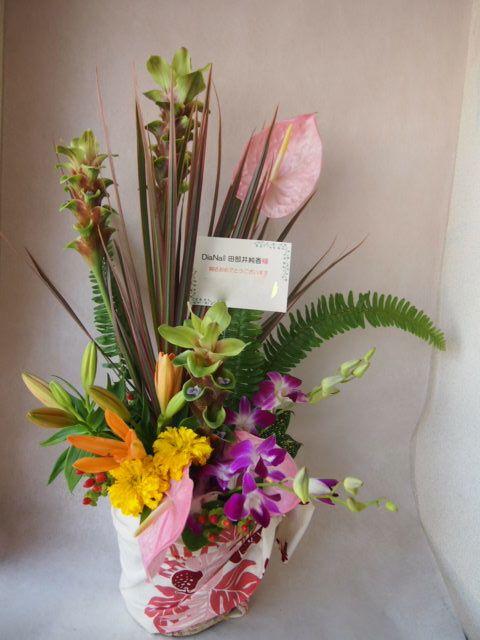 花ギフト|フラワーギフト|誕生日 花|カノシェ話題|スタンド花|ウエディングブーケ|花束|花屋|42048(1)