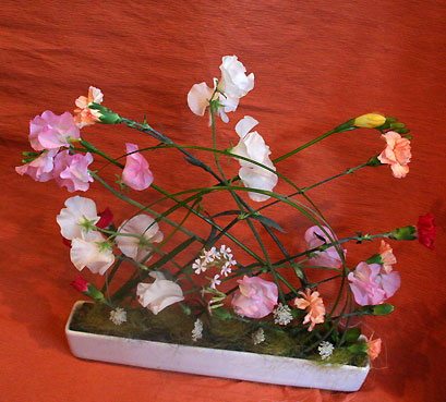 花ギフト|フラワーギフト|誕生日 花|カノシェ話題|スタンド花|ウエディングブーケ|花束|花屋|ねもとさん スイトピー