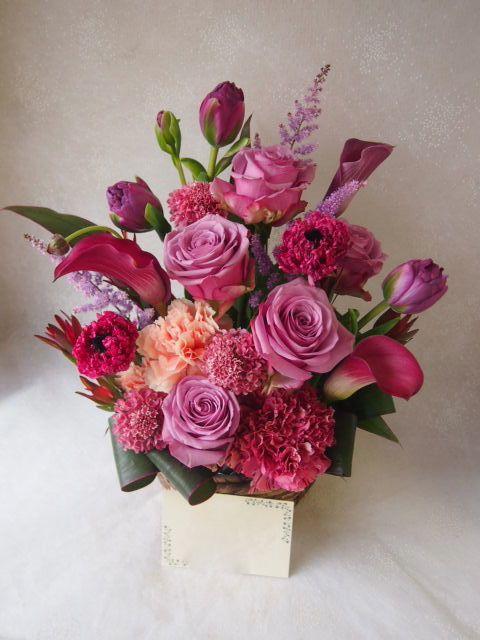 花ギフト|フラワーギフト|誕生日 花|カノシェ話題|スタンド花|ウエディングブーケ|花束|花屋|54207