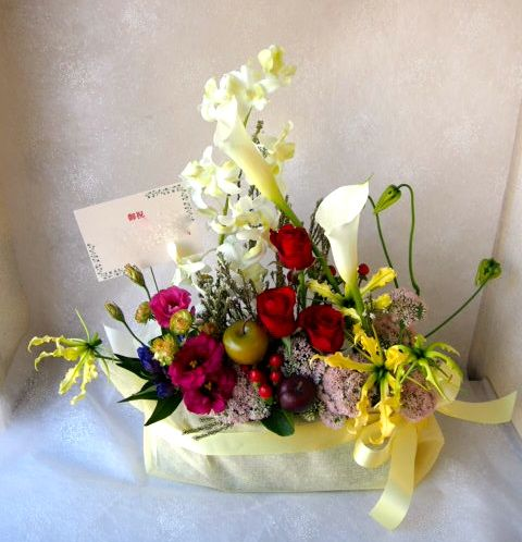 花ギフト|フラワーギフト|誕生日 花|カノシェ話題|スタンド花|ウエディングブーケ|花束|花屋|58101