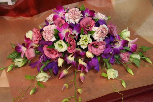 花ギフト|フラワーギフト|誕生日 花|カノシェ話題|スタンド花|ウエディングブーケ|花束|花屋|さやかさん デンファレ