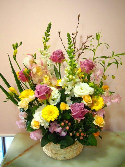 花ギフト|フラワーギフト|誕生日 花|カノシェ話題|スタンド花|ウエディングブーケ|花束|花屋|54404