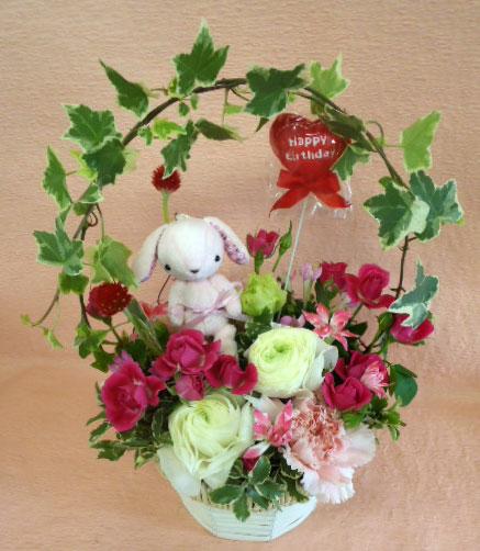 花ギフト フラワーギフト 誕生日 花 カノシェ話題 スタンド花 ウエディングブーケ 花束 花屋 cute