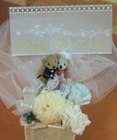 花ギフト|フラワーギフト|誕生日 花|カノシェ話題|スタンド花|ウエディングブーケ|花束|花屋|くま