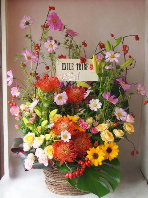 花ギフト|フラワーギフト|誕生日 花|カノシェ話題|スタンド花|ウエディングブーケ|花束|花屋|exile sama(2)