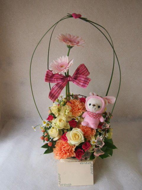 花ギフト|フラワーギフト|誕生日 花|カノシェ話題|スタンド花|ウエディングブーケ|花束|花屋|53896