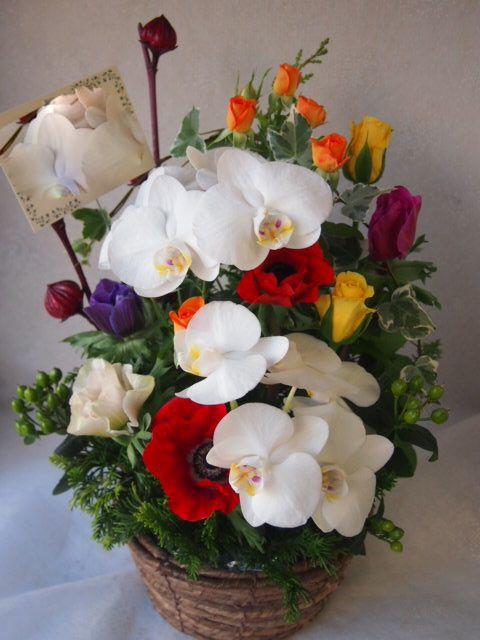 花ギフト|フラワーギフト|誕生日 花|カノシェ話題|スタンド花|ウエディングブーケ|花束|花屋|51595