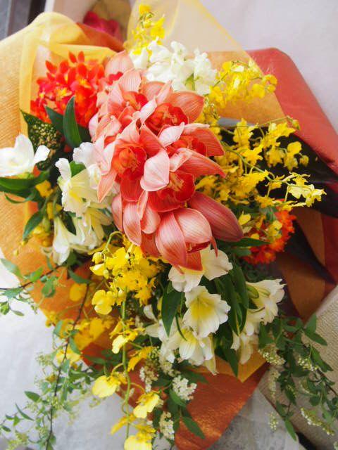 花ギフト|フラワーギフト|誕生日 花|カノシェ話題|スタンド花|ウエディングブーケ|花束|花屋|45965