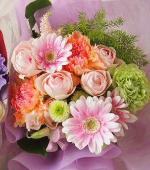 花ギフト|フラワーギフト|誕生日 花|カノシェ話題|スタンド花|ウエディングブーケ|花束|花屋|45554-1