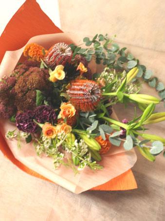 花ギフト フラワーギフト 誕生日 花 カノシェ話題 スタンド花 ウエディングブーケ 花束 花屋 バンクシア