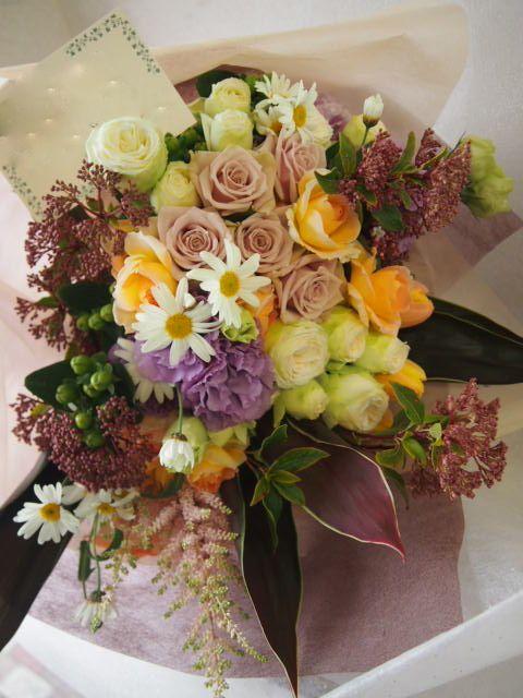花ギフト|フラワーギフト|誕生日 花|カノシェ話題|スタンド花|ウエディングブーケ|花束|花屋|53819