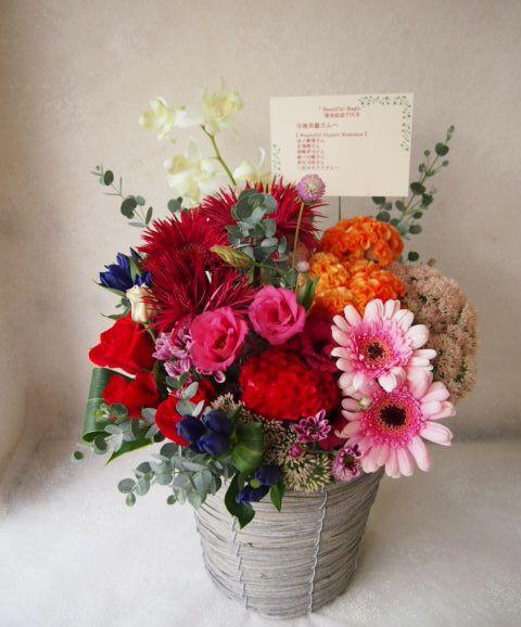 花ギフト|フラワーギフト|誕生日 花|カノシェ話題|スタンド花|ウエディングブーケ|花束|花屋|58049