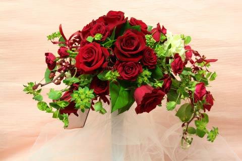花ギフト|フラワーギフト|誕生日 花|カノシェ話題|スタンド花|ウエディングブーケ|花束|花屋|赤ワイヤー2