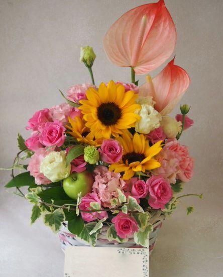 花ギフト|フラワーギフト|誕生日 花|カノシェ話題|スタンド花|ウエディングブーケ|花束|花屋|48686