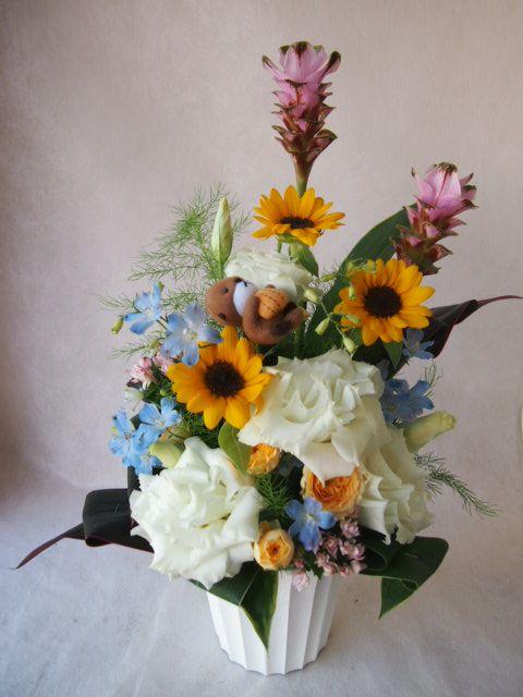 花ギフト|フラワーギフト|誕生日 花|カノシェ話題|スタンド花|ウエディングブーケ|花束|花屋|42329