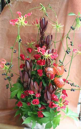 花ギフト|フラワーギフト|誕生日 花|カノシェ話題|スタンド花|ウエディングブーケ|花束|花屋|赤