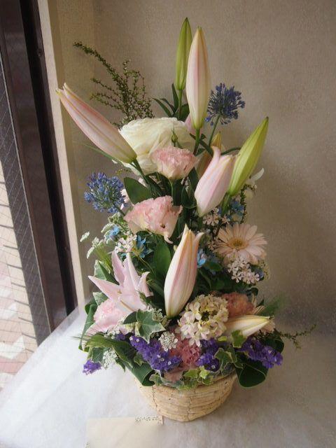 花ギフト|フラワーギフト|誕生日 花|カノシェ話題|スタンド花|ウエディングブーケ|花束|花屋|54653