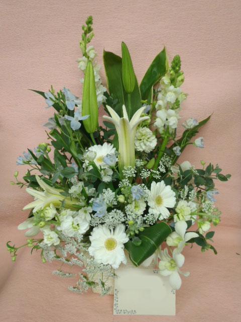 花ギフト|フラワーギフト|誕生日 花|カノシェ話題|スタンド花|ウエディングブーケ|花束|花屋|みさき 白