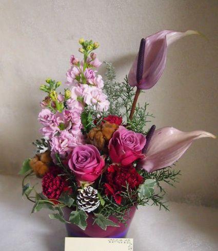 花ギフト|フラワーギフト|誕生日 花|カノシェ話題|スタンド花|ウエディングブーケ|花束|花屋|52448