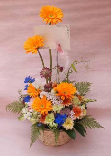 花ギフト|フラワーギフト|誕生日 花|カノシェ話題|スタンド花|ウエディングブーケ|花束|花屋|40855(1)