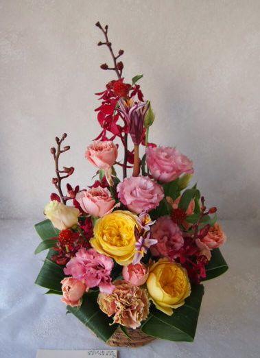 花ギフト|フラワーギフト|誕生日 花|カノシェ話題|スタンド花|ウエディングブーケ|花束|花屋|58022