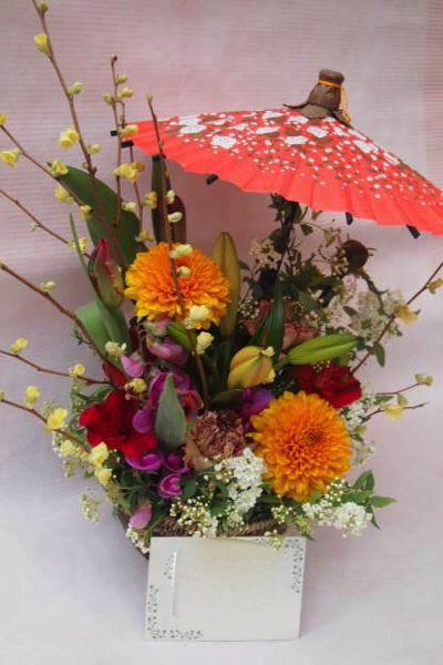 花ギフト|フラワーギフト|誕生日 花|カノシェ話題|スタンド花|ウエディングブーケ|花束|花屋|魚とおばんざい 魚吉三様