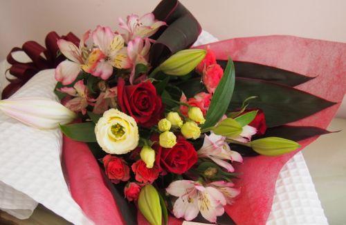 花ギフト|フラワーギフト|誕生日 花|カノシェ話題|スタンド花|ウエディングブーケ|花束|花屋|57435