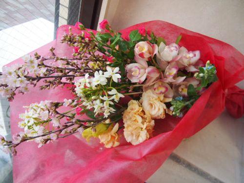 花ギフト|フラワーギフト|誕生日 花|カノシェ話題|スタンド花|ウエディングブーケ|花束|花屋|53752