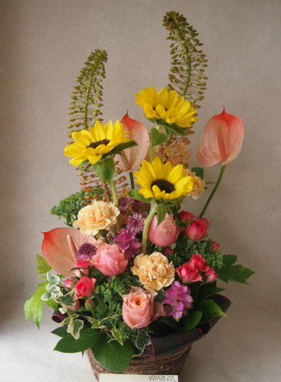 花ギフト|フラワーギフト|誕生日 花|カノシェ話題|スタンド花|ウエディングブーケ|花束|花屋|48657