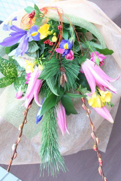 花ギフト フラワーギフト 誕生日 花 カノシェ話題 スタンド花 ウエディングブーケ 花束 花屋 IMG_5497